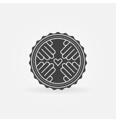 Hand made badge or logo vector