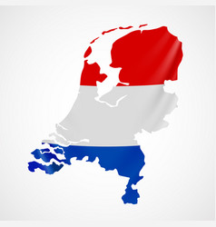 hanging netherlands flag in form of map vector image