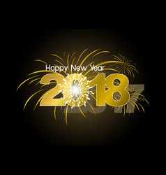happy new year 2018 with fireworks design vector image