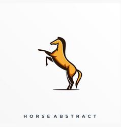 Horse jump template vector