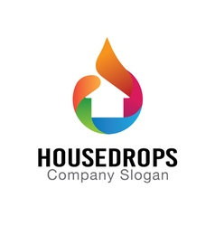 House Drops Design vector