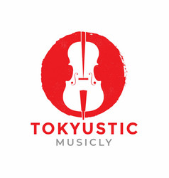 Japan music logo design vector