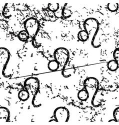 Leo pattern grunge monochrome vector