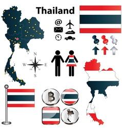 Map thailand vector