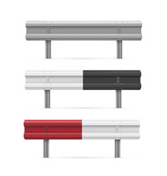 metal road barriers realistic vector image