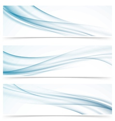 Modern abstract smoke swoosh line header vector
