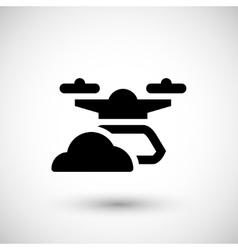 Modern drone icon vector image