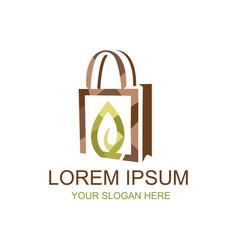 natural shopping logo vector image