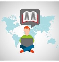 Online training education-student e-learning vector