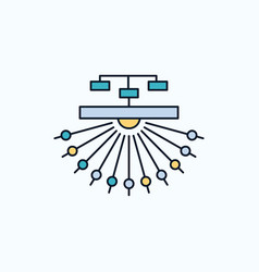 Optimization site site structure web flat icon vector