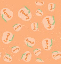 Peachy retro pattern for print design cartoon vector