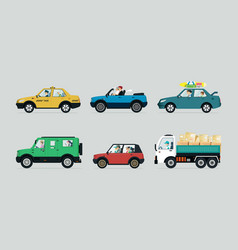 people driving vector image