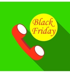 Phone and black friday icon flat style vector
