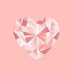 pink diamonds pattern romantic jewelry vector image