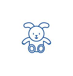 rabbit baby line icon concept rabbit baby flat vector image