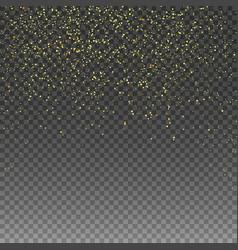 rain golden golden glitter golden confetti vector image