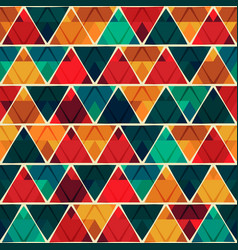 Red triangle seamless texture vector
