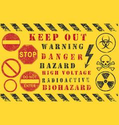 safety warning diagonal stripes danger keep out vector image
