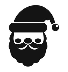 santa face icon simple style vector image