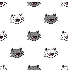 seamless pattern with white vector image