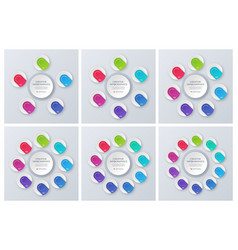 set of contemporary circle chart templates vector image