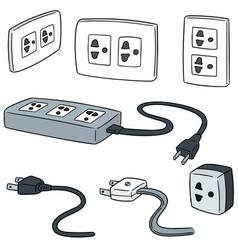 Set of plugs vector