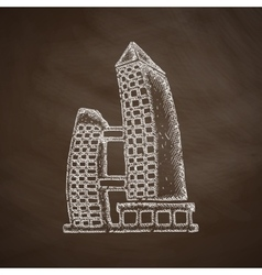 Singapore building icon vector