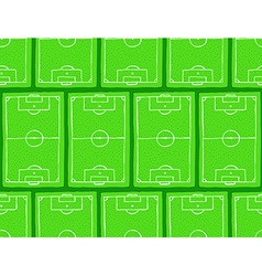 Sketch football field pattern vector image