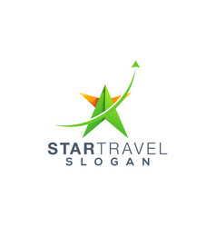 star travel logo design ready to use vector image