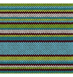 Style Seamless Color Knitted Pattern vector image