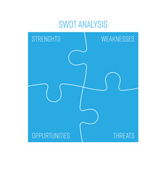 Swot business infographic diagram or swot matrix vector