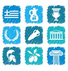 Symbols greece vector