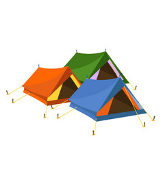 Tents on white background vector