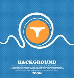 Underwear icon sign Blue and white abstract vector