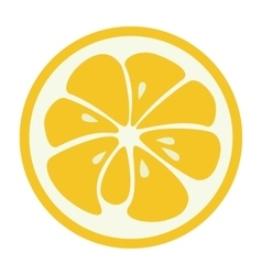 Yellow lemon grapefruit stylish icon Juicy fruit vector