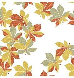 Autumn orange leaves seamless pattern vector image vector image