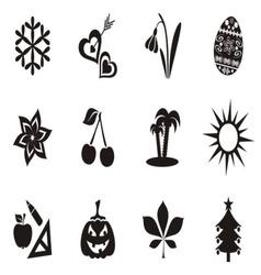 Calendar icons vector image vector image