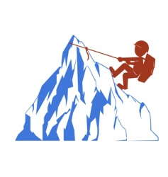 climber and mountain vector image vector image