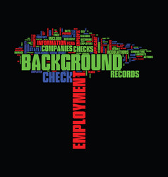 employment background check text background word vector image