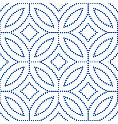 blue flower pattern beads background vector image vector image