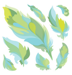 feather silhouettes vector image