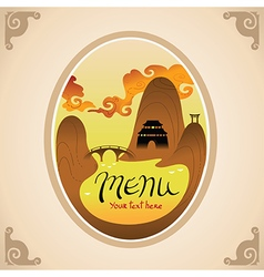Template Design of Asian Menu vector image vector image