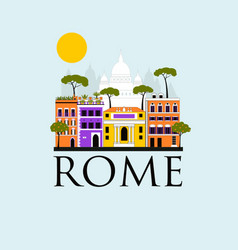 travel background of rome vector image