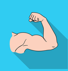 biceps icon in flat style isolated on white vector image vector image