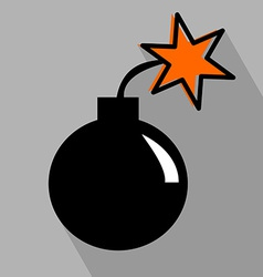 Bomb Flat Icon vector image vector image