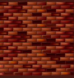 bright brick wall dark background vector image