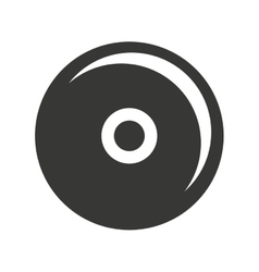 cd player isolated icon design vector image vector image