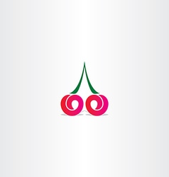 cherry logo stylized icon design vector image vector image