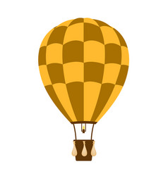 hot air balloon in brown and orange design vector image vector image