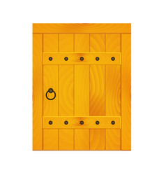 medieval wooden door vector image